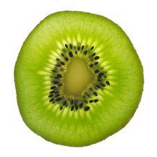 Free Backlit Slice Of Fresh Green Kiwi Fruit Stock Photo - 20806790