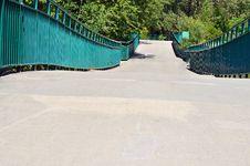 Free Suspension Bridge At Reinhart Park Stock Image - 20807371