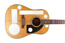 Free Acoustic Guitar Artwork Stickers Royalty Free Stock Images - 20807539