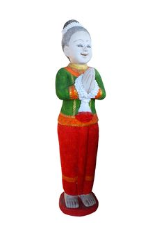 Free Statue Traditional Thai Greeting Royalty Free Stock Photo - 20807775