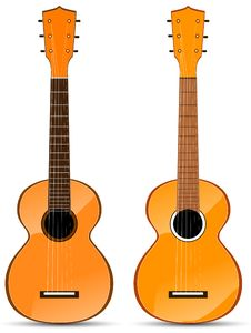 Free Orange Classical Acoustic Guitar Royalty Free Stock Photography - 20807817