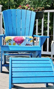 Free Blue Adirondack Chair Stock Photos - 20808023