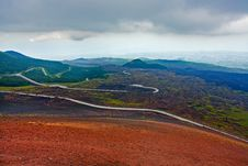 Free Serpentine Road On Slope Of Volcano Stock Image - 20808761