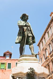 Free Monument To Playwright Carlo Goldoni, Venice Stock Photo - 20808800