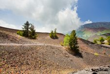 Free Mountain Path In Clinker Ground On Volcano Etna Royalty Free Stock Image - 20808916