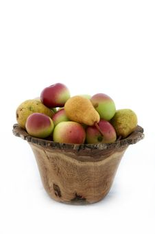 Organic Fruit Pears And Apples Royalty Free Stock Images