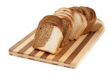 Free Sliced Bread On A Board Stock Image - 20809101
