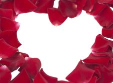 Free Heart Of Red Rose Petals Stock Photo - 20809260