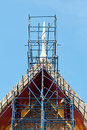 Free Scaffolding On Thai Temple Roof Stock Photography - 20810392