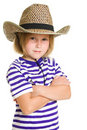 Free Girl Cowboy Royalty Free Stock Photo - 20812495