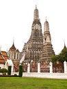Free White Isolated Of Pagoda Wat Arun , Bangkok Royalty Free Stock Image - 20814896