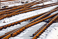 Free Rails In Winter At The Station Royalty Free Stock Image - 20817576