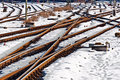 Free Rails In Winter At The Station Royalty Free Stock Images - 20817579