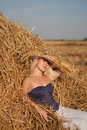 Free The Beautiful Girl In The Field With Wheat On The Stock Image - 20819221