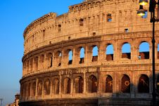 Free Colosseum At Sunset Stock Image - 20810081