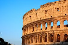 Free Colosseum At Sunset Royalty Free Stock Photography - 20810087