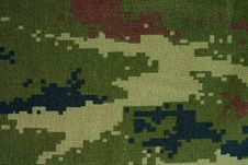 Camouflage Cloth Pattern Stock Image