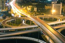 Free Night Scene Of City Overpass Royalty Free Stock Images - 20811549