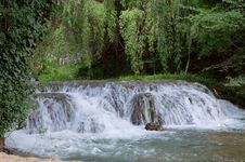 Free Waterfall At The Monasterio De Piedra Royalty Free Stock Images - 20811669