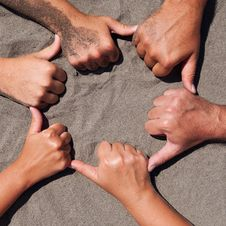 Free Hands On Sand Royalty Free Stock Image - 20811746