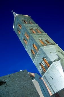 St.Anastasia Church Belfry In The Dusk Stock Photography