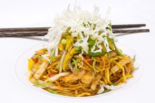 Free Yellow Noodle Fried With Seafood Royalty Free Stock Photo - 20812045