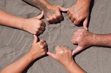 Free Hands On Sand Stock Images - 20812094