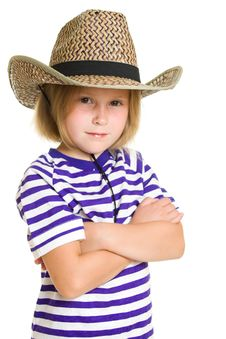 Free Girl Cowboy Royalty Free Stock Photo - 20812495