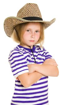 Girl Cowboy Royalty Free Stock Image