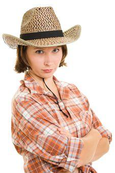 Free Cowboy Woman. Royalty Free Stock Photography - 20813217