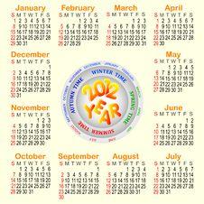 Free American Calendar 2012. Stock Photo - 20813520