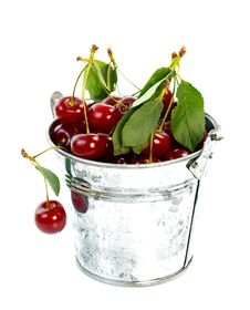 Free Pot With Cherry Stock Photos - 20813823