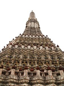 Free Isolated Of Pagoda In The Wat Arun In Bangkok Royalty Free Stock Photos - 20814598