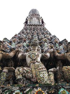 Free Isolated Details Of Pagoda Wat Arun , Bangkok Royalty Free Stock Image - 20814816
