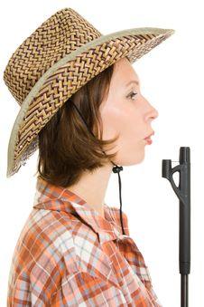 Free Cowboy Woman With A Gun. Stock Photos - 20814903