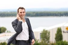 Free Men Calling By Phone Royalty Free Stock Photos - 20815098