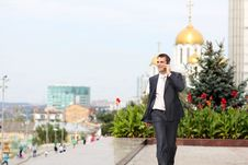 Free Men Calling By Phone Stock Images - 20815134