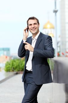 Free Men Calling By Phone Stock Photos - 20815183