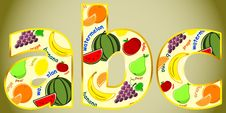 Free Fruits Letter Stock Image - 20815581