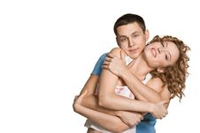 Free Beautiful Young Happy Smiling Couple Royalty Free Stock Photo - 20815835