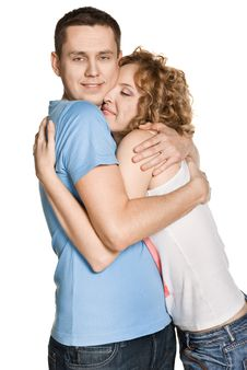 Free Beautiful Young Happy Smiling Couple Royalty Free Stock Photos - 20815928