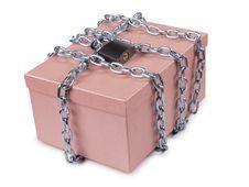 Free Padlock On Box Royalty Free Stock Photos - 20816098
