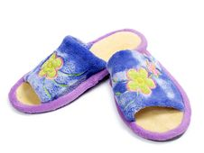 Slippers Womans Royalty Free Stock Photography