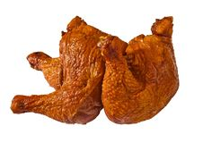Free Delicious Bloated Chicken Leg On White Royalty Free Stock Photo - 20816595