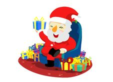 Free Christmas Santa With Present Royalty Free Stock Photography - 20817197