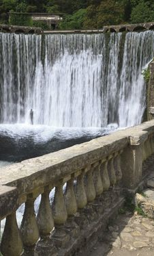 Free Artificial Waterfall In Old Power Station Royalty Free Stock Image - 20817466