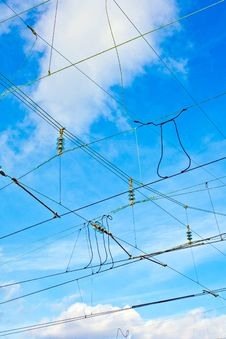 Free Catenary In Winter At The Station Royalty Free Stock Photo - 20817505