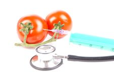 Free Syringe And Tomatoes Royalty Free Stock Images - 20817879