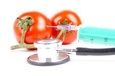Free Syringe And Tomatoes Stock Photo - 20817940