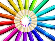 Free Color Pencils Royalty Free Stock Photos - 20818018